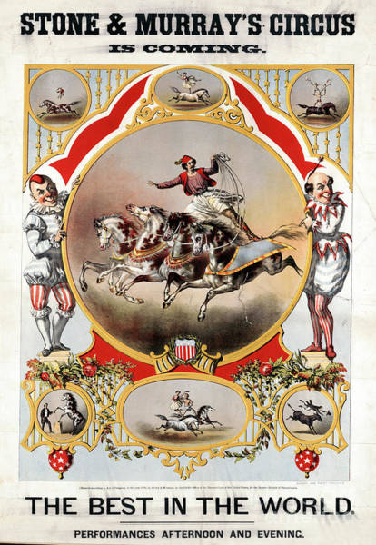Drawing - Circus Poster, 1870.  by Granger