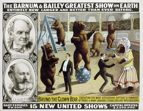 Carnies Photograph - Circus Poster, C1890 by Granger