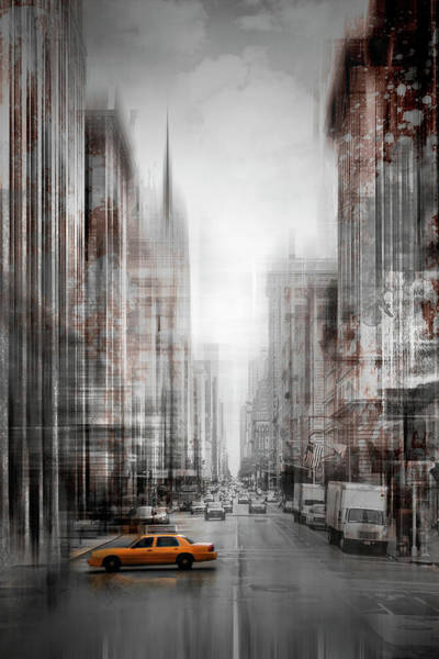 Wall Art - Photograph - City-art Nyc 5th Avenue  by Melanie Viola