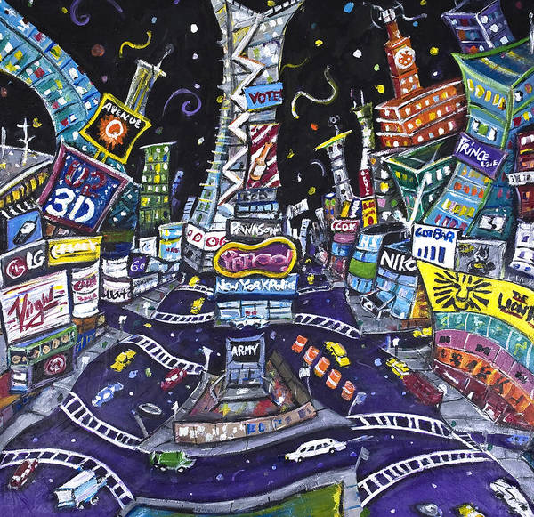Wall Art - Painting - City Of Lights by Jason Gluskin