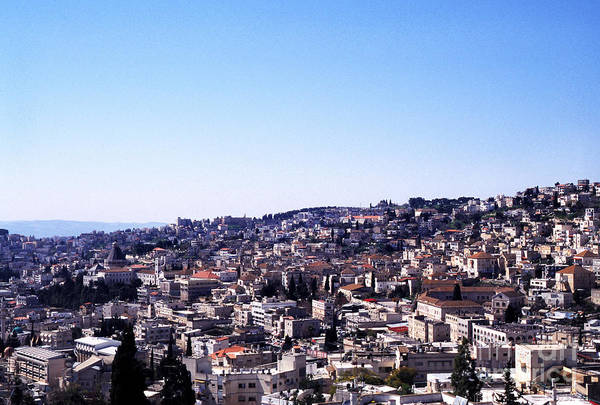 Jewish Homeland Photograph - City Of Nazareth From The Saint Gabriel Bell Tower by Thomas R Fletcher