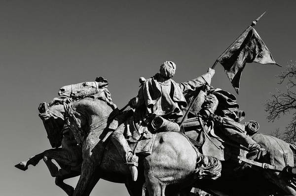 Photograph - Civil War Soldier Statue In Washington Dc by Brandon Bourdages