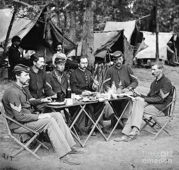 Photograph - Civil War: Union Officers by Granger