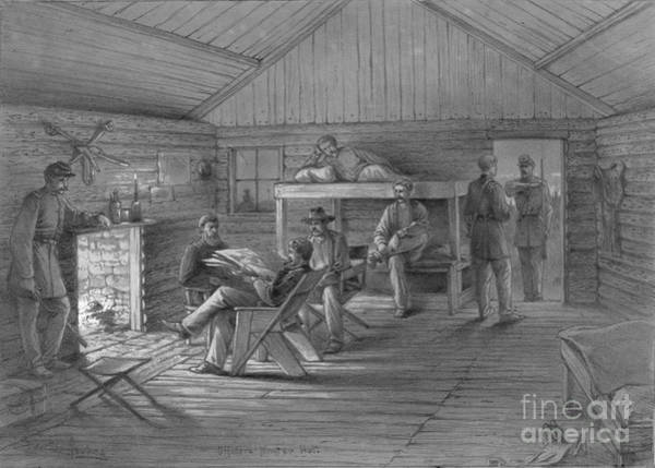 Drawing - Civil War, Winter Quarters.  by Granger