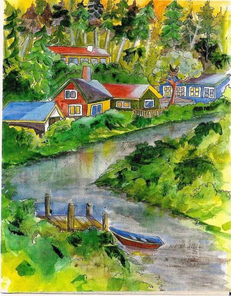 Clallam River Art Print by KC Winters