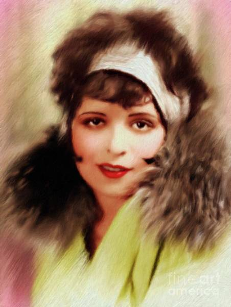 Wall Art - Painting - Clara Bow, Vintage Actress by Mary Bassett