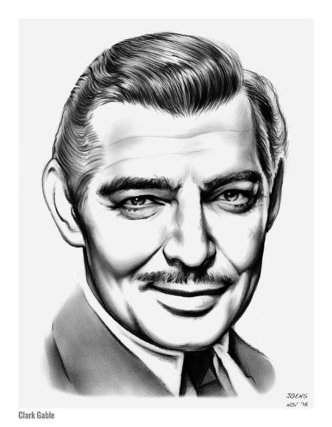 Actor Drawing - Clark Gable by Greg Joens