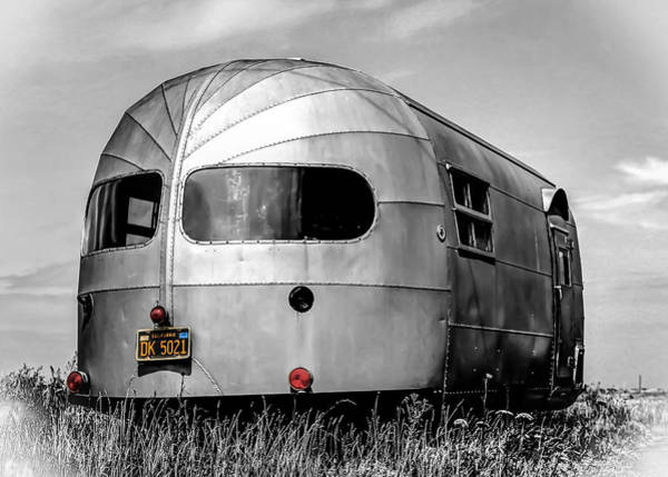 Vintage Poster Wall Art - Photograph - Classic Airstream Caravan by Ian Hufton