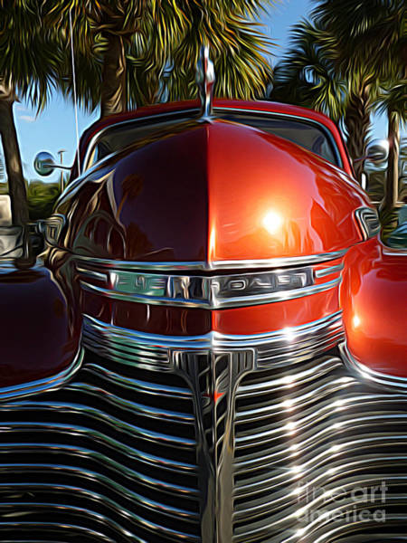 Hood Ornaments Digital Art - Classic Cars - 1941 Chevy Special Deluxe Business Coupe - Hood And Grille by Jason Freedman