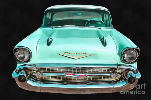 Digital Art - Classic Chevy Pop Art by Edward Fielding