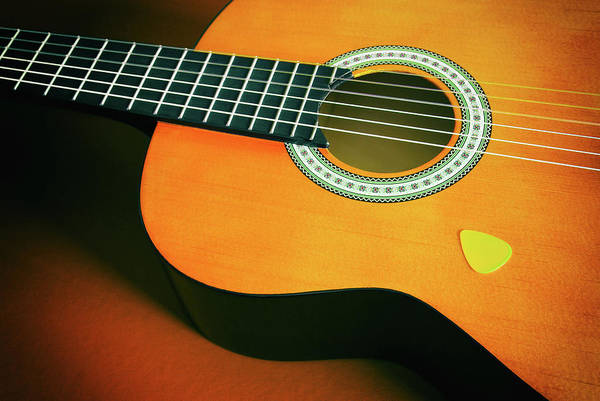 Frets Photograph - Classic Guitar  by Carlos Caetano