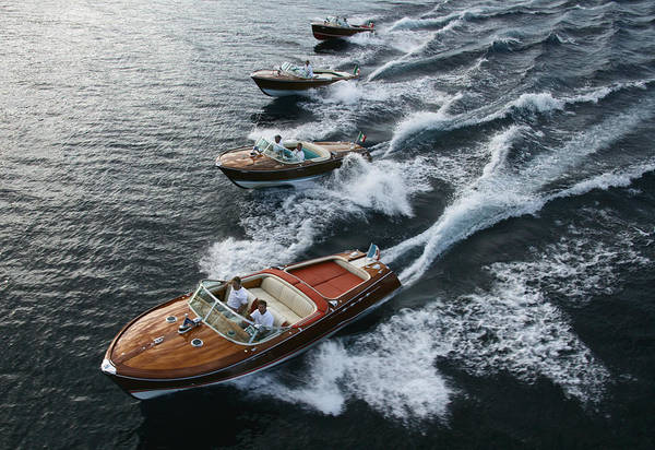 Photograph - Classic Riva Runabouts by Steven Lapkin