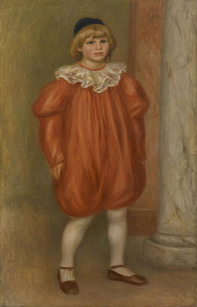 Painting - Claude Renoir In Clown Costume by Auguste Renoir