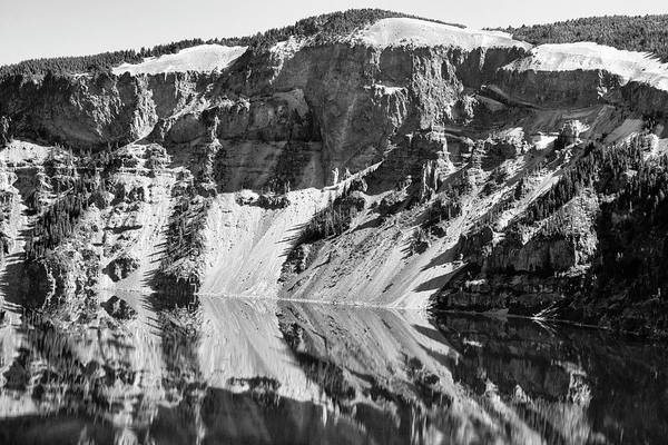 Photograph - Cliff Reflections On Crater Lake  by Frank Wilson