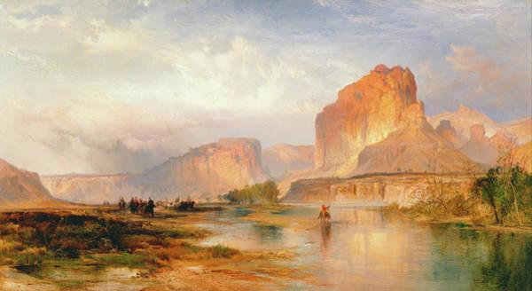 Wall Art - Painting - Cliffs Of Green River by Thomas Moran