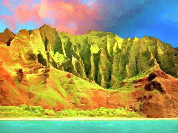 Painting - Cliffs On The Na Pali Coast by Dominic Piperata