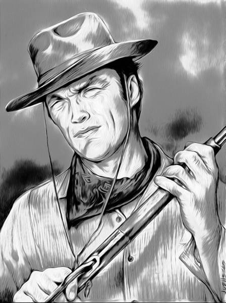 Wall Art - Digital Art - Clint by Greg Joens