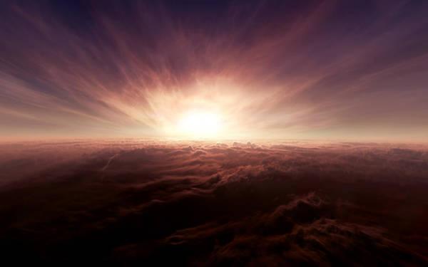 Sunset Digital Art - Cloud by Maye Loeser