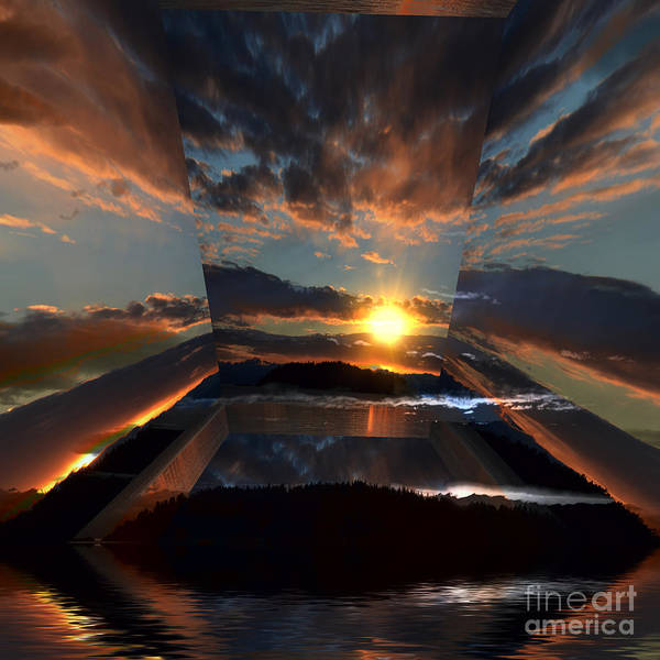 Wall Art - Photograph - Cloud Sunrays Reflections 23c by Elaine Hunter