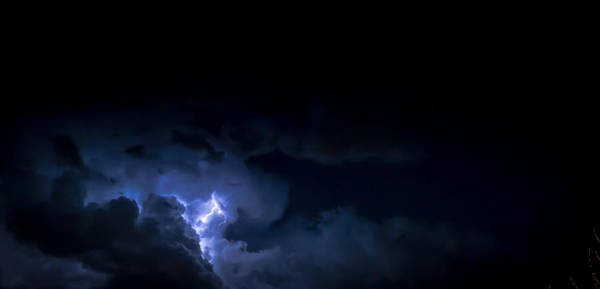 Photograph - Cloud Thunder Strike And Lightning At Night by John Williams