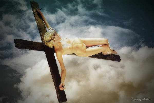 Wall Art - Photograph - Clouds And Crucifix by Ramon Martinez