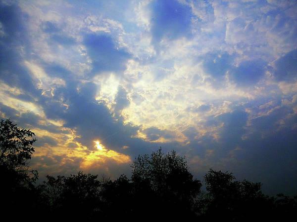 Photograph - Cloudy Sunrise by Atullya N Srivastava