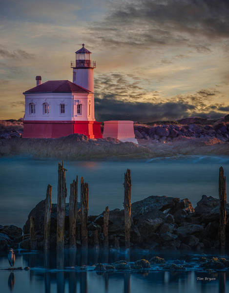 Photograph - Coaquille Lighthouse by Tim Bryan