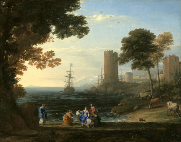 Coast View With The Abduction Of Europa Art Print