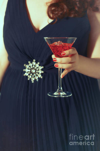 Hand Painted Photograph - Cocktail Hour by Amanda Elwell