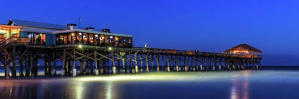 Cocoa Beach Pier At Twilight Art Print