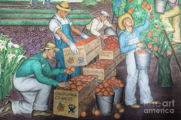 Photograph - Coit Tower Murals In San Francisco by Didier Marti