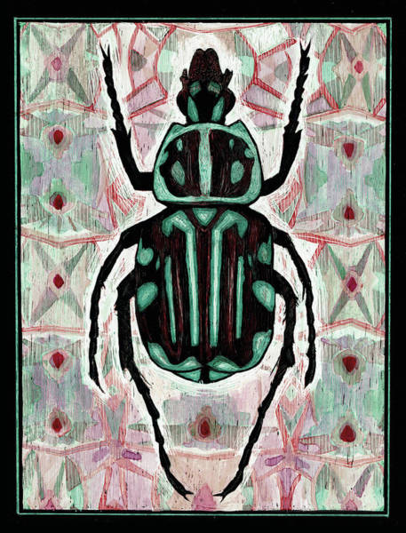 Painting - Coleoptera 01 by Sophie Mildner