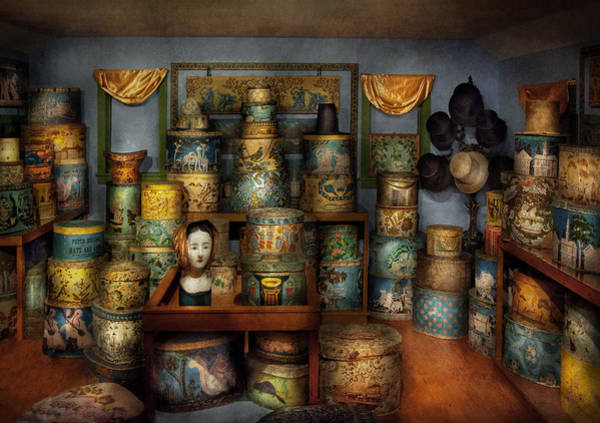 Photograph - Collector - Hats - The Hat Room by Mike Savad