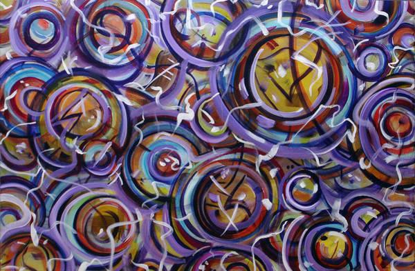 Painting - Colliding Orbs by Lynda Lehmann