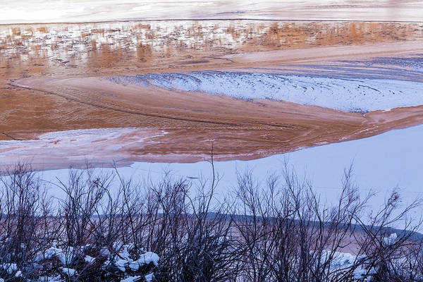 Photograph - Colorado River In Winter by Deborah Hughes