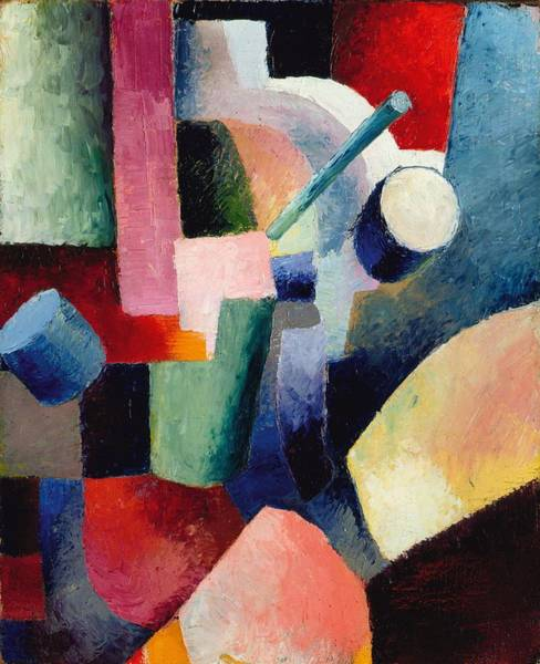 Painting - Colored Composition Of Forms by August Macke