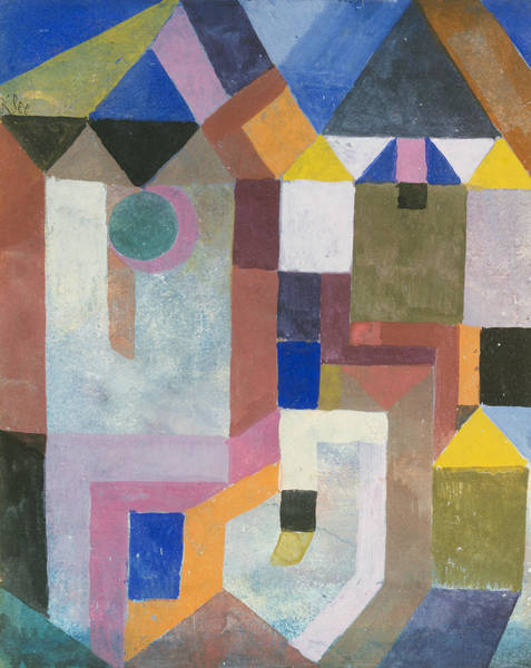 Drawing - Colorful Architecture by Paul Klee