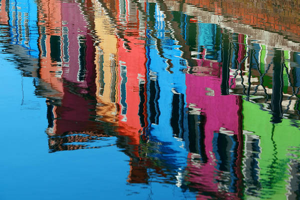 Photograph - Colorful Burano Reflection by Songquan Deng