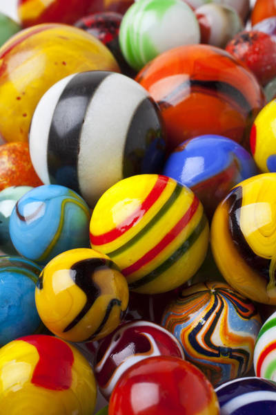 Shooters Wall Art - Photograph - Colorful Marbles by Garry Gay