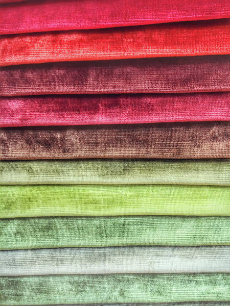 Clothing Store Photograph - Colorful Textiles Background by Tom Gowanlock