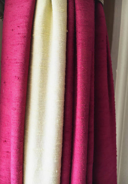 Burgundy Photograph - Colorful Textiles by Tom Gowanlock