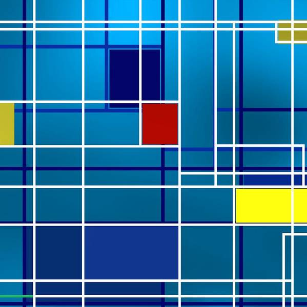 Digital Art - Colorist Geometric Composition by Alberto RuiZ
