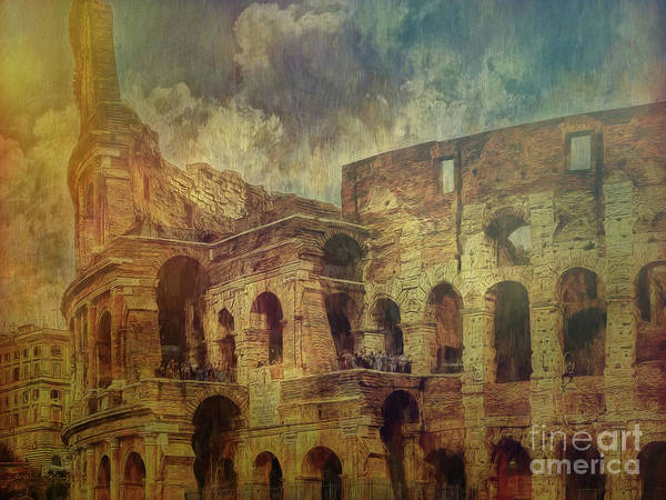 Digital Art - Colosseo Rome by Leigh Kemp