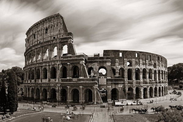 Photograph - Colosseum In Rome by Songquan Deng