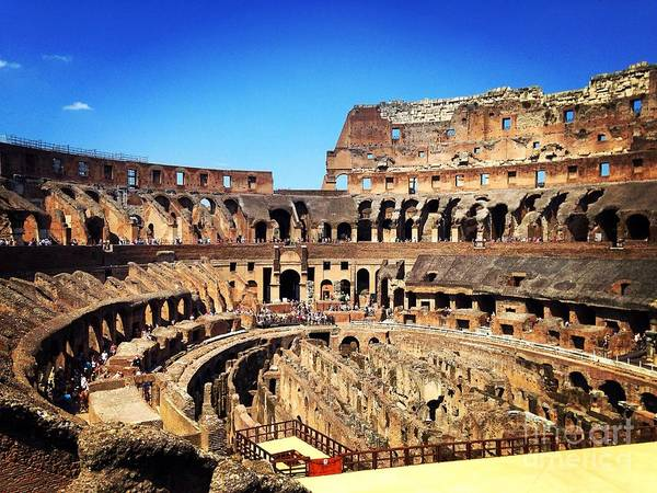 Photograph - Colosseum Interior by Angela Rath