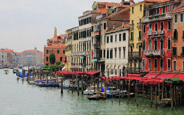 Digital Art - Colours Of The Grand Canal by Julian Perry