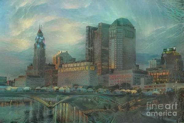 Osu Digital Art - Columbus Skyline  by Douglas Sacha