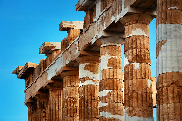 Photograph - Columns Closeup by Songquan Deng