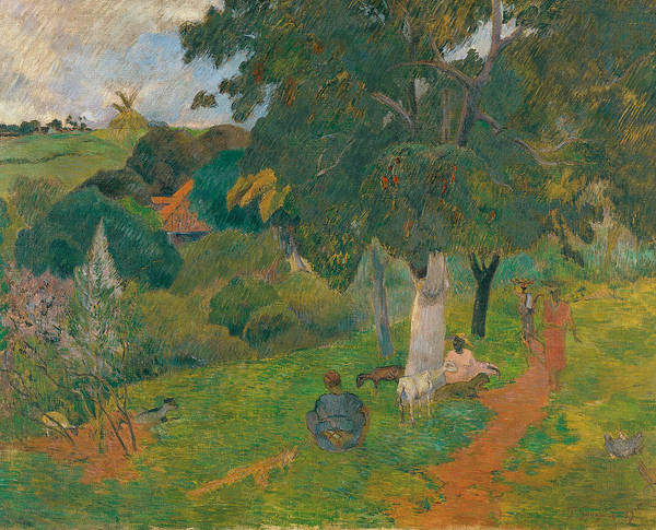 Painting - Coming And Going, Martinique by Paul Gauguin