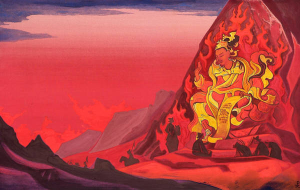 Metaphor Painting - Command Of Rigden Djapo by Nicholas Roerich